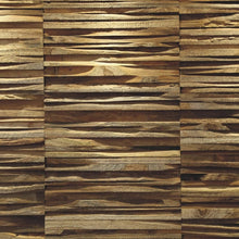 Load image into Gallery viewer, A close up of the teak wood wall panel Tarang