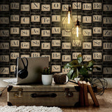 Mind The Gap Wallpaper - Vintage Periodic - 3 Rolls