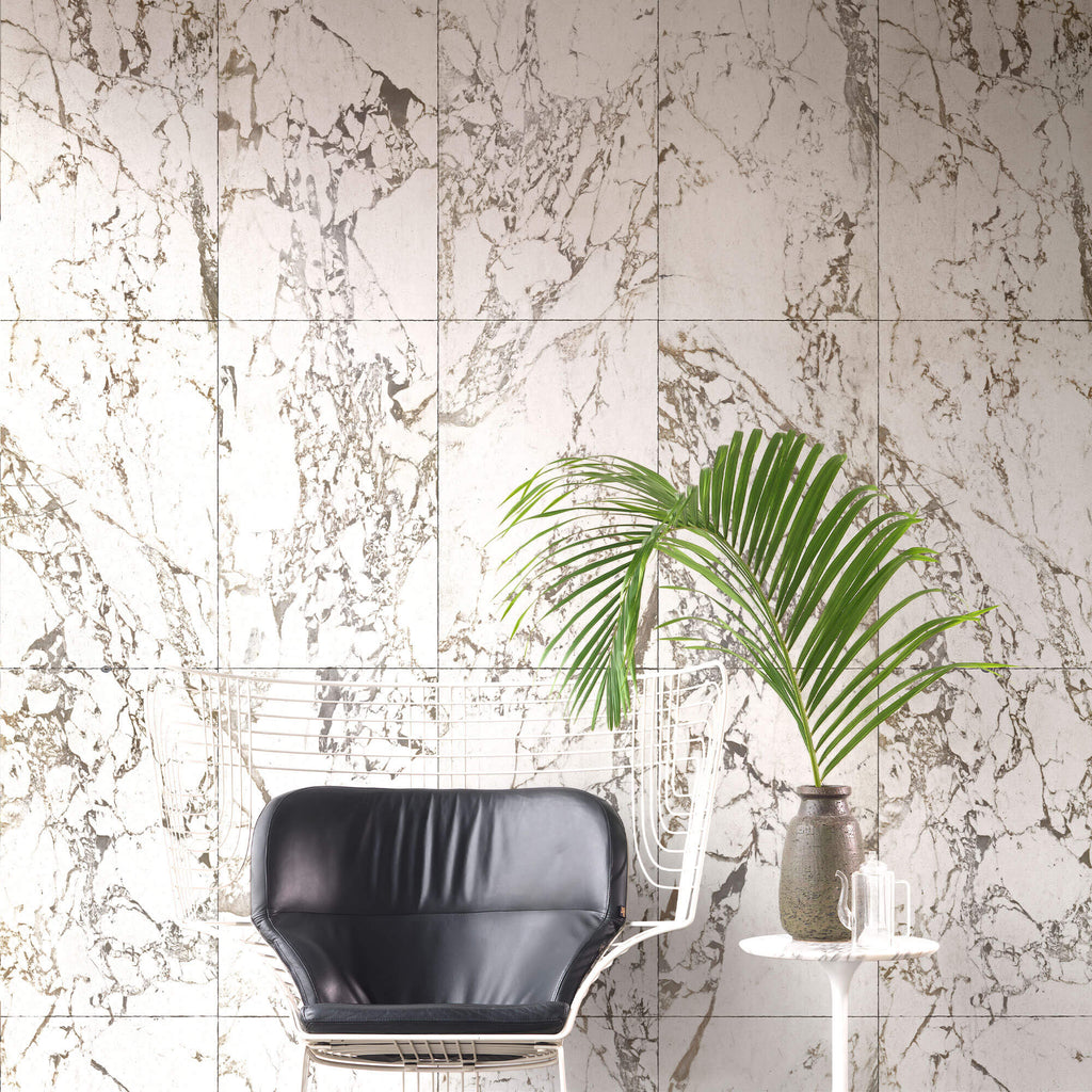 NLXL Wallpaper - White Marble - 4.9m²