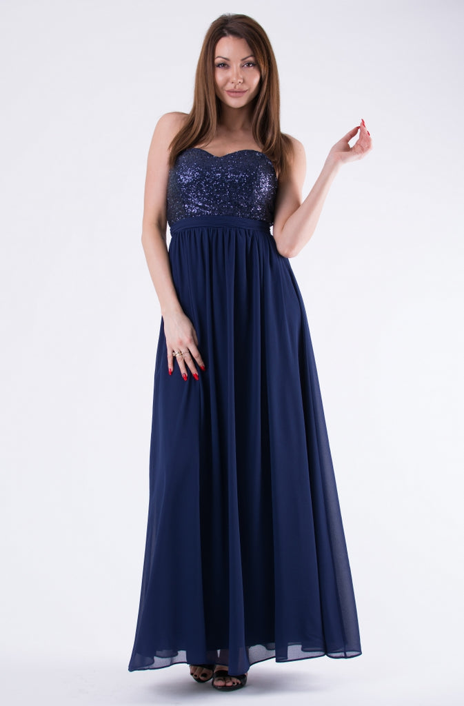 EVA & LOLA DRESS NAVY BLUE 58004-2