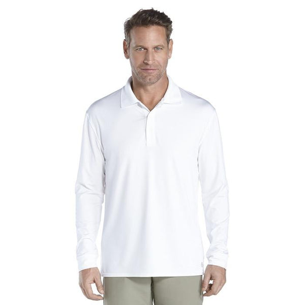 Coolibar Men's Golf Long Sleeve Polo Shirt