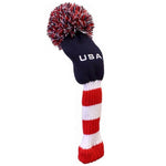 "Pom Pom KNIT Head Cover - ""USA"" (Fairway/Hybrid)"