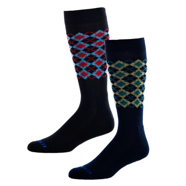 KentWool 19th Hole Collection New Argyle Golf Sock (Dress Sock)