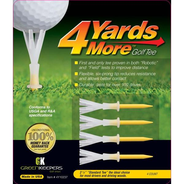 "4YardsMore 2 3/4"" Yellow Standard Golf Tee (4ct)"