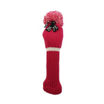 Pom Pom KNIT Head Cover - Hot Pink