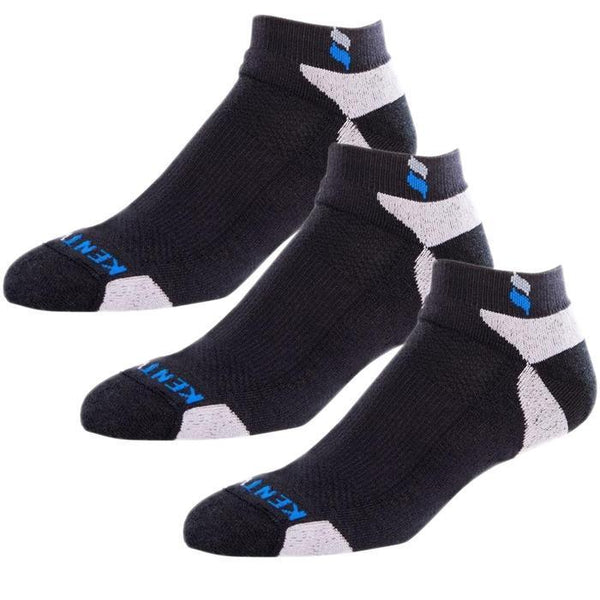 Bundle Set KentWool Men's Classic Ankle Golf Socks (Black/3-pack)