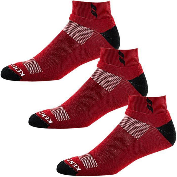 Bundle Set KentWool Men's Classic Ankle Golf Socks (Garnet/3-pack)