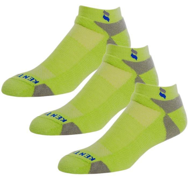 Bundle Set KentWool Men's Tour Profile Golf Socks (Lime Green/3-pack)