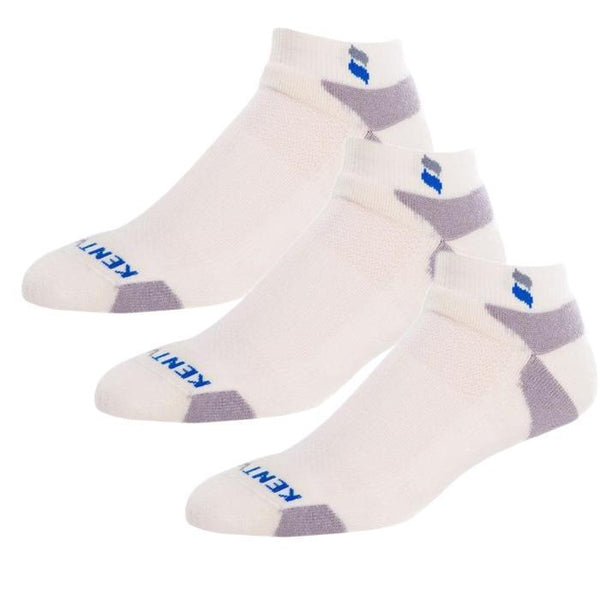 Bundle Set KentWool Men's Classic Ankle Golf Socks (Natural/3-pack)