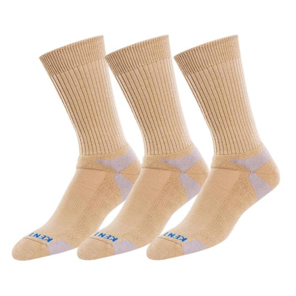 Bundle Set KentWool Mens Tour Standard Golf Socks (Khaki/3-pack)