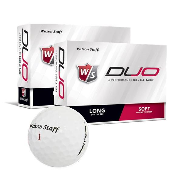 2-pk Wilson DUO Golf Ball (24 balls total) - White