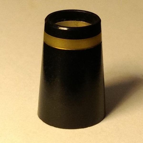 Black Plastic Ferrules with Gold Ring for Wood Clubs (12 pack)