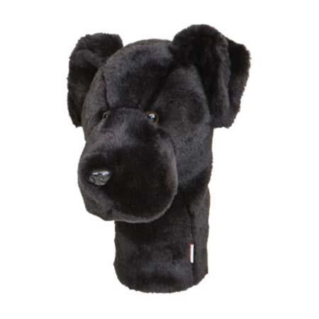 Furry Animal Headcover - Black Lab