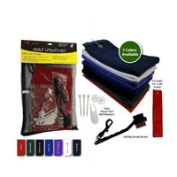 Ultimate Golf Utility Kit (Includes: Towel, Tees, Ball Markers, Divot Tool & Utility Scrub Brush)
