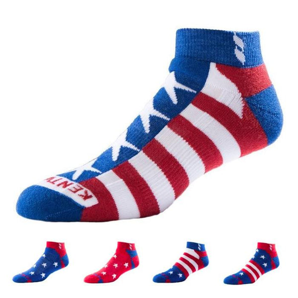 KentWool Men's USA Classic Ankle Golf Sock - Stars & Stripes