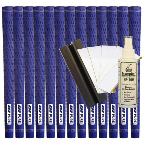 Pure Pro Undersize - Royal Blue (13pcs + Golf Grip Kit)