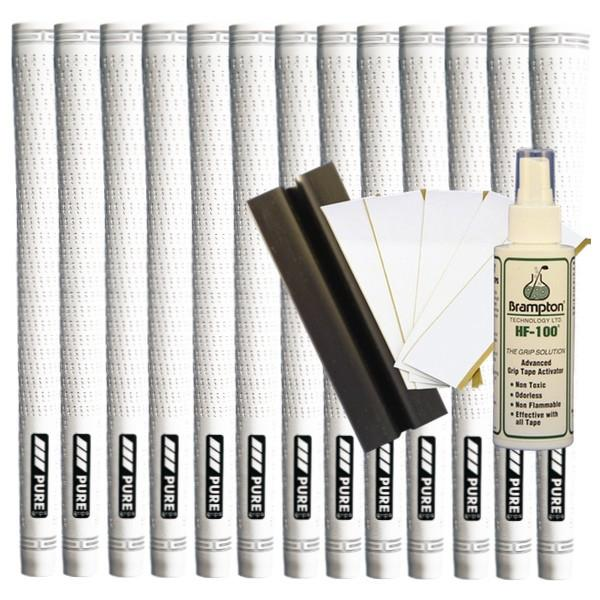 Pure Pro Undersize - White (13pcs + Golf Grip Kit)
