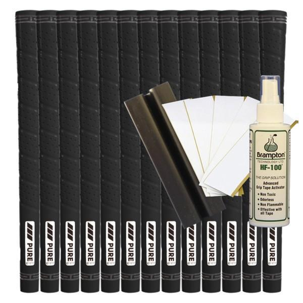 Pure Wrap Midsize - Black (13pcs + Golf Grip Kit)