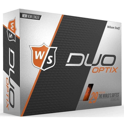 Wilson Staff DUO Optix Matte (24 pack) Golf Balls - Orange