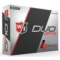 Wilson Staff DUO Optix Matte (24 pack) Golf Balls - Red