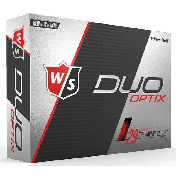 Wilson Staff DUO Optix Matte (12 pack) Golf Balls - Red