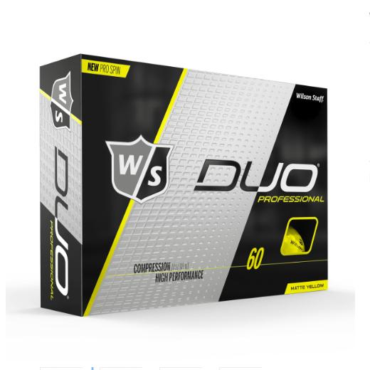 Wilson Staff DUO Professional (12 pack) Golf Balls - Yellow