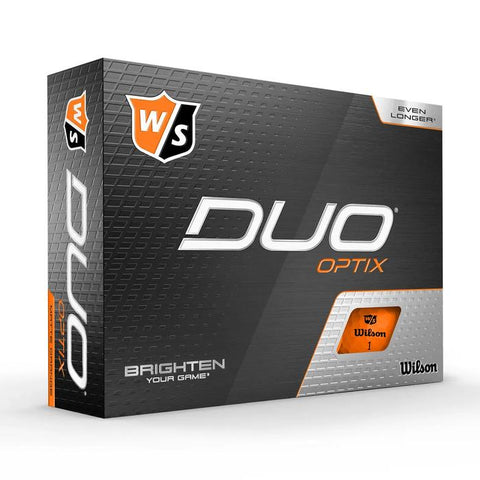 Wilson Staff DUO Optix (12 pack) Golf Balls - Orange