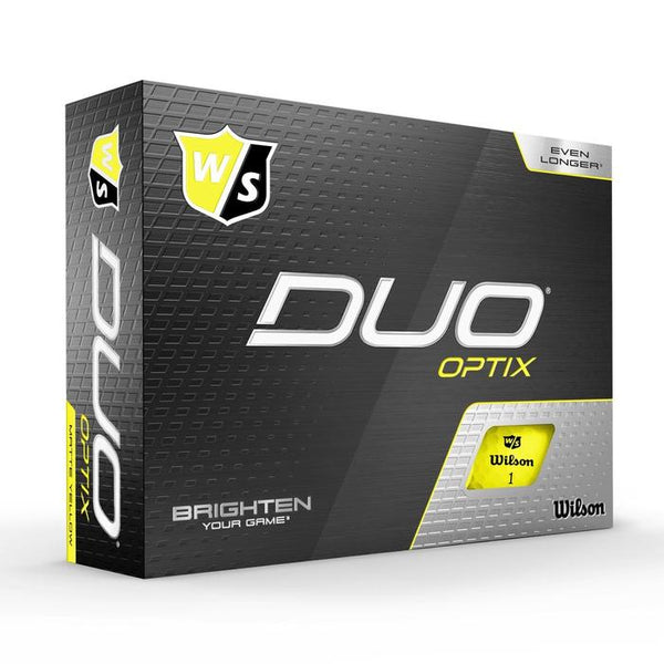 Wilson Staff DUO Optix (12 pack) Golf Balls - Yellow