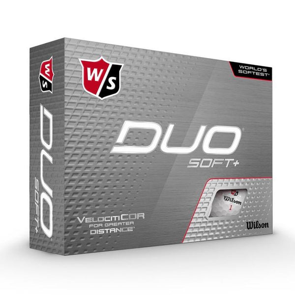 NEW Wilson Staff DUO Soft+ (12 pack) Golf Balls - White