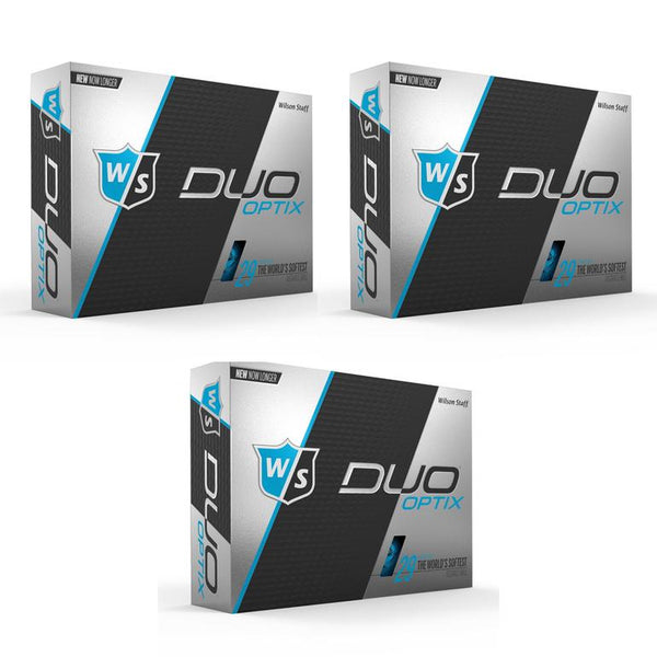 Wilson Staff DUO Optix Matte (36 pack) Golf Balls - Blue