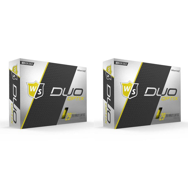 Wilson Staff DUO Optix Matte (24 pack) Golf Balls - Yellow