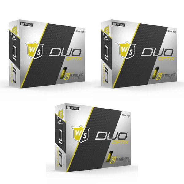 Wilson Staff DUO Optix Matte (36 pack) Golf Balls - Yellow