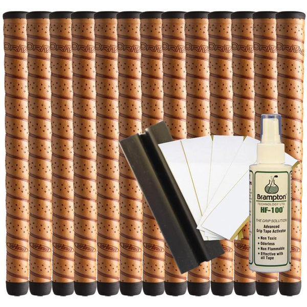 Winn Dri-Tac WRAP Oversize (13pcs + Golf Grip Kit) - Copper or Dark Gray