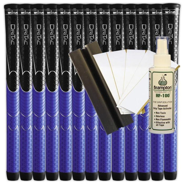 Winn Dri-Tac Black/Blue Midsize (13pcs + Golf Grip Kit)