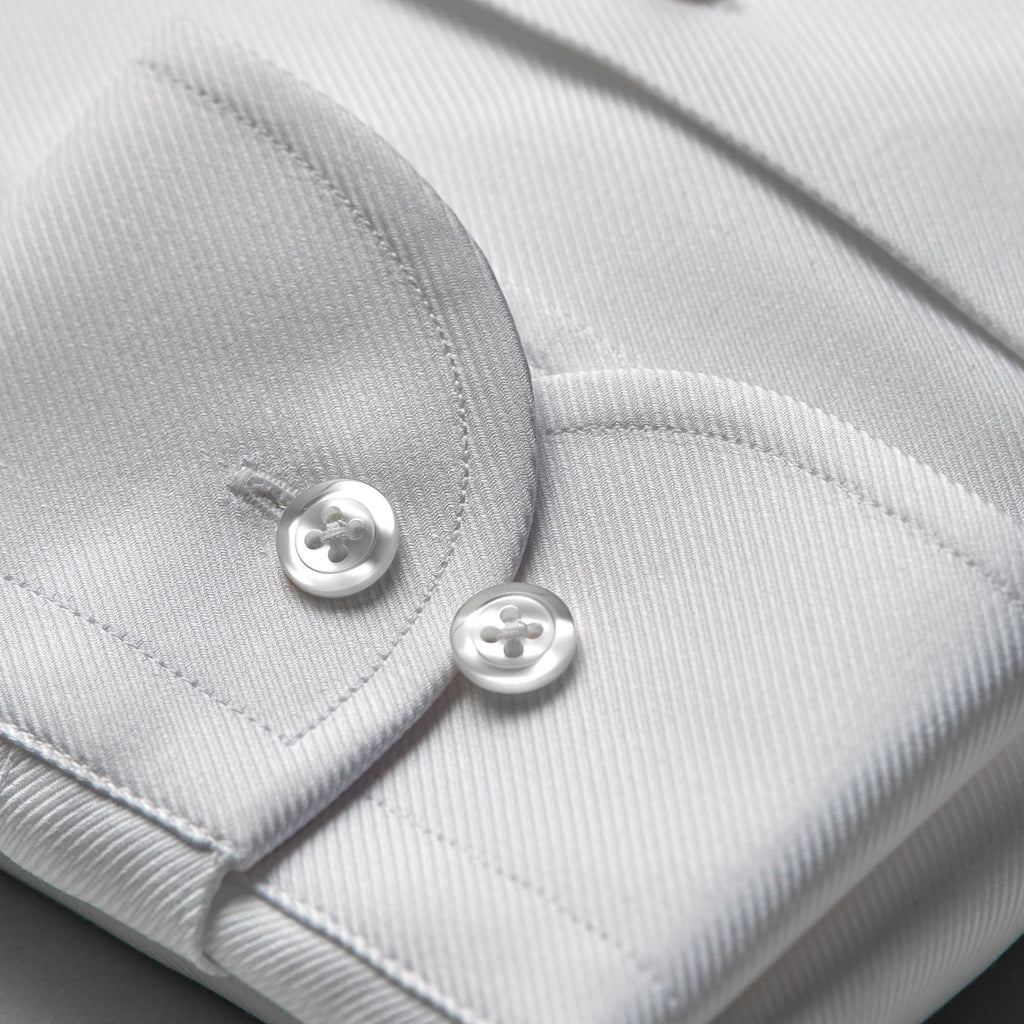 The CEO - every detail of this white business shirt has been carefully perfected