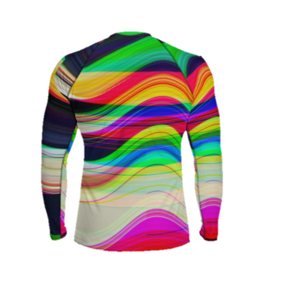 Gliding thru a Black Hole Before Breakfast Men's Rash Guard