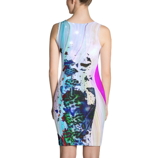 Dandelion Pastel Holographic Reality Wish Simulation All Over Print  Cut & Sew Dress