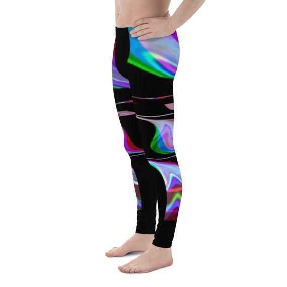 Quantum Entanglement - Glitch Art - Futurism - Men's Leggings