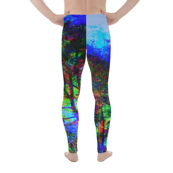 Glitch Madrone Tree Dream Beach Glitch Athletic Surfer Yogipunk Men's Leggings