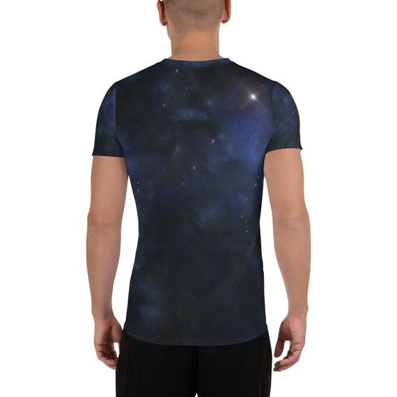 Einstein Imagination Glitch All-Over Print Men's Athletic T-shirt