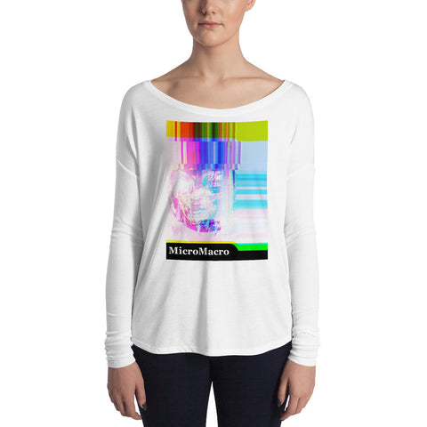 Micro Macro - Alien - Glitch - Ladies' Long Sleeve Tee