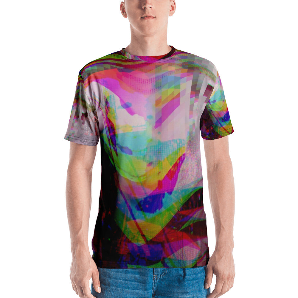 Transformation Butterflies Glitch Aesthetic Abstract Men's T-shirt