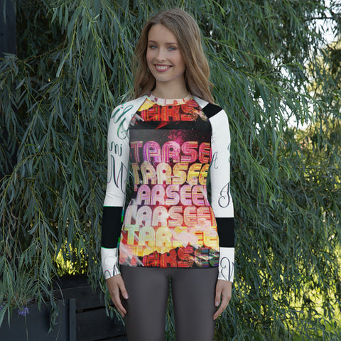 Starseed Glitch in the Matrix Women's Rash Guard