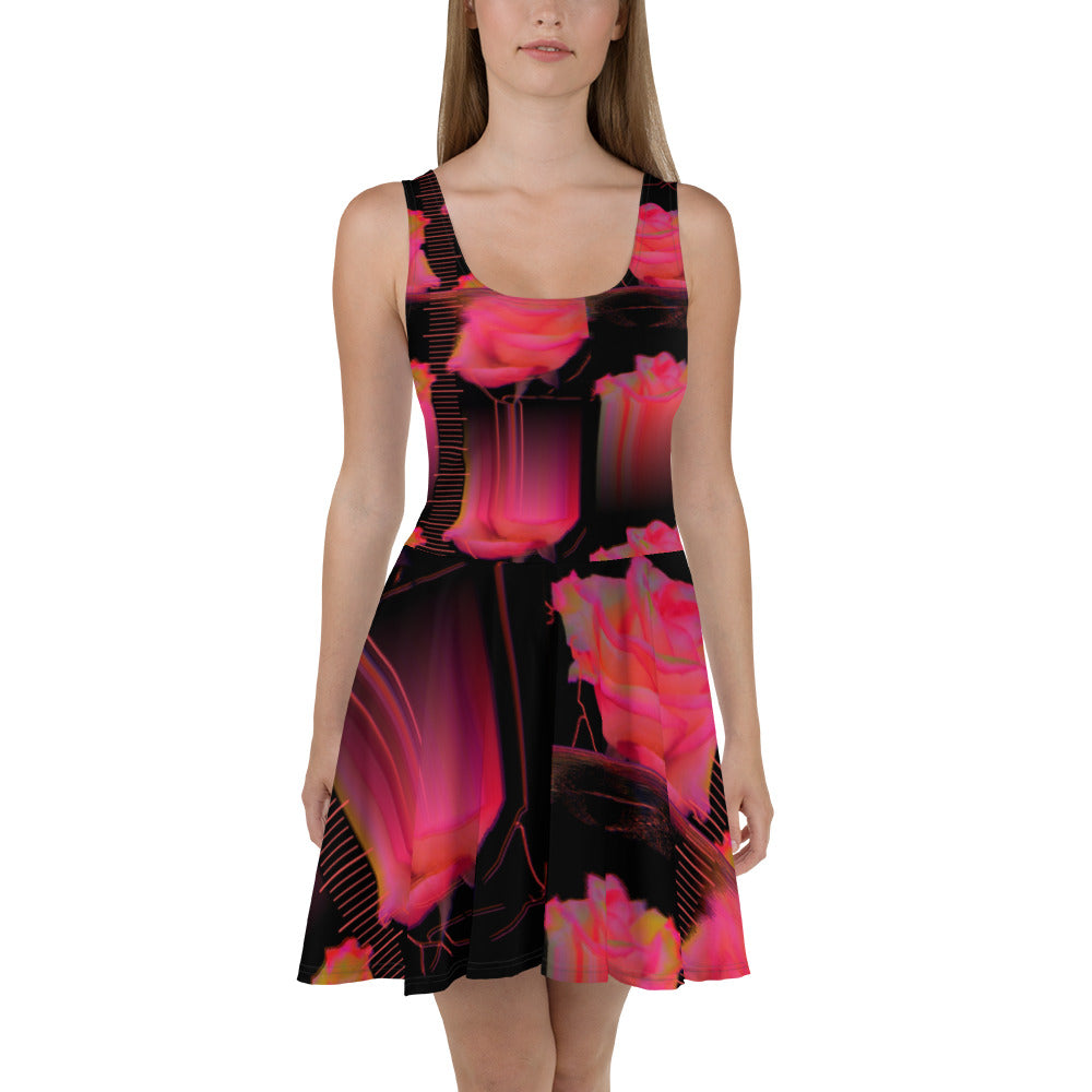 Neuro Mantic Roses Skater Dress