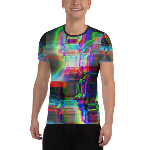 Chromaesthesia All-Over Print Men's Athletic T-shirt