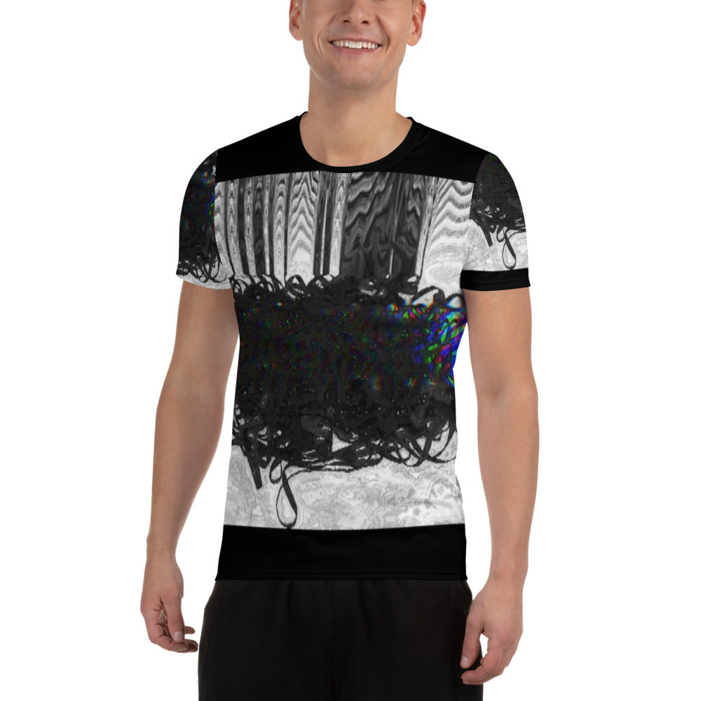 Magnetic Storm All-Over Print Men's Athletic T-shirt