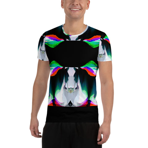 Wild Card Black Cat All-Over Print Men's Athletic T-shirt