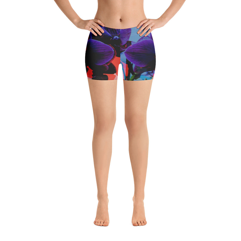 Synthwave Orchid Shorts