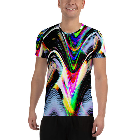 Replicate Me All-Over Print Men's Athletic T-shirt