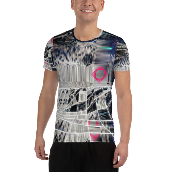 Ladder of Lights All-Over Print Men's Athletic T-shirt